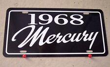 1968 Mercury license plate tag 68 Cougar Cyclone Park Lane Monterey Montego