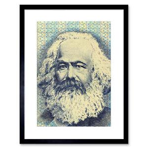Painting Political Karl Marx Banknote Design Communism Framed Wall Art Print