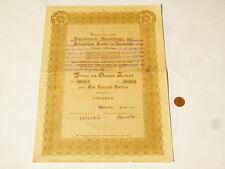 More details for 1920 dutch rotterdam 1000 gulden share bond 18 coupons left #s26 *