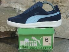 Vintage 80s PUMA Udo Lattek UK 6 Made In Italy Deadstock OG Rare Dallas Blue