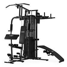 B-ware Klarfit Fitnessgerät Fitnessstation Multistation Hantelbank mit Gewich