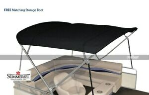 Summerset 4 Bow Bimini Replacement Top, Canvas Only - 96'L x 97'-103'W | Black