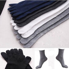 BIG SALE Mens Womens Socks Cotton Sports Five Finger Socks ToeSock Light Gray