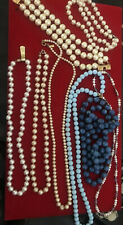 fashion jewelry free shipping auction  Just Like Pearls Lot Necklaces