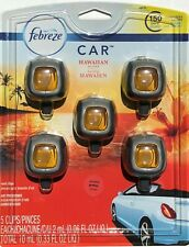Febreze Car Air Freshener Cigarette Odor Eliminator - Aloha Hawaiian, Pack of 5
