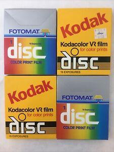 2 Sealed Kodak Kodacolor VR Disc Film & Fotomat Color print 60 photos EXPIRED