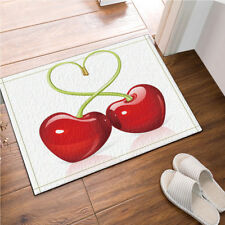 Floor Non-Slip Bath Door Mat Decor Kitchen Bathroom Love Heart Cherries 24x16""