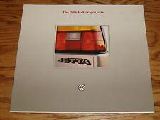 Original 1986 Volkswagen VW Jetta Deluxe Sales Brochure 86