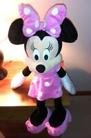 """VTG Disney Store Authentic Minnie Mouse Big Pink Polka Dot Plush Toy 29"""" Doll"""