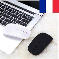 Souris Optique sans fil 2,4GHz 1600 Dpi Mince Ergonomique + Récepteur USB