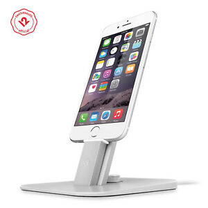 Twelve South HiRise Deluxe Charging Stand for Lighting/microUSB Devices, Silver