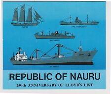 (K27-16) 1984 Nauru 4stamps 250th anniversary of Lloyds list stamp