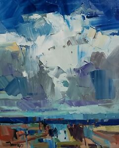 JOSE TRUJILLO Oil Painting IMPRESSIONISM LANDSCAPE CLOUDS EXPRESSIONIST ART