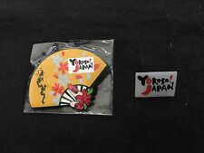"JAPANESE PIN BADGE "" YOKOSO JAPAN "" 2 PINS ...NO OLYMPIC PINS"