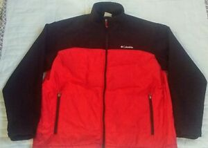 Columbia Size XL Mens Red/Black Full Zip Outerwear Jacket 315