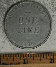 "1896 Free Silver ""Not One Dime"" McKinely/Bryan Presidential Election 1896 Medal"