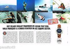 PUBLICITE ADVERTISING 085  1995  La montre SECTOR ADV 2500(2p) GUY DELAGE