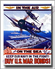 Buy US War Bonds Vintage Navy Korean War Canvas Print 2D