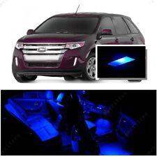 For Ford Edge 2007-2014 Blue LED Interior Kit + Blue License Light LED