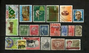 Colombia stamps lot 20 used items in good cond. as seen combine shipping 1/3