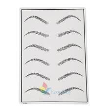 Permanent Cosmetic Eye Eyebrow Makeup Practice Training Skin Sheet Tattoo #A