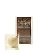 JACK BURKE 1956 GSV MASTERS WIN CARD & HIS SIGNATURE BALL