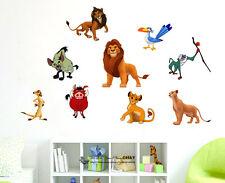 Lion King Kids Nursery Wall Stickers Home Decor Art Mural Simba Mufasa Nala Scar