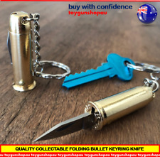 Bullet Knife Gun Ammo Knife Folding Bullet Knife Keyring key chain Knife S/Steel