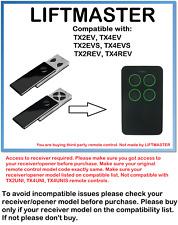 Liftmaster TX2EV, TX4EV, TX2REV, TX4REV 433.92MHz Control Remoto Compatible.
