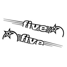 Orange 5 (FIVE) Both Sides Rear Swing Arm Decal/Stickers   Replacement   Replica