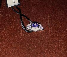 Le Vian 14ct Vanilla Gold diamond & tanzanite ring Size J