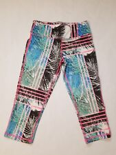 NEW MATERIAL GIRL Athletic Leggings Yoga Running Graphic Palm Crop Pants Macys S