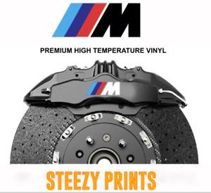 4x BMW M SERIES HIGH TEMPERATURE Premium Brake Caliper Sticker Decal
