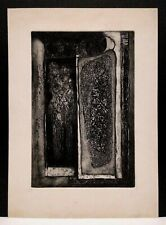 Listed AMERICAN LESTER F. SCHULTZ ABSTRACT EXPRESSIONIST ORIGINAL ETCHING N/R