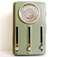 WW2 Original WWII GERMAN Soldier Army Flashlight Tin Metal Signal Torch 4 COLOR!