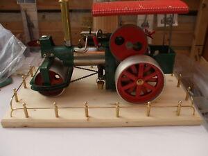 CJW Steam Brass threaded hubcaps & Rear Axle Wilesco Old Smokey Roller D365