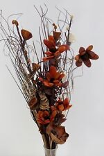 choc brown cream dried Bouquet HOME  DISPLAY, CONSERVATORY no vase Weddings