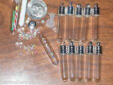 1 Verre Bijoux Fabrication Bouteille Vial Pendentif Médaillon Petit Puces Galet