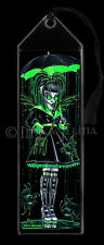 Fairy BOOKMARK Art Cybergoth Android Radioactive Green Fish Digit Myka Jelina