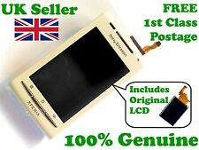 Genuine Sony Ericsson X8 Xperia front + LCD + digitizer touch screen glass White