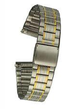 Acciaio Inossidabile Cinturino Bicolore, clipverschluß - 18 mm, connettore dritto, Uhrband