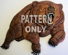 NEW ~ GRIZZLY BEAR ~INTARSIA WOOD PATTERN