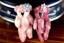2 Pink Miniature Teddy Bear For Blythe BJD MSD Doll
