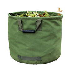 125L Green Garden Waste Bags Leaves Bags Military Canvas Fabric With Handles