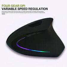 USB Wireless 2400DPI 2.4GHz Ergonomic Vertical Gaming Optical Mouse Mice