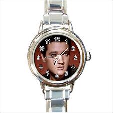 NEW*HOT ELVIS PRESLEY Round Italian Charm Wrist Watch Gift D09