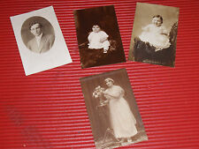 4 ANTIQUE PHOTOGRAPH POST CARDS BLACK & WHITE PHOTOGRAPHY PORTRAITURES