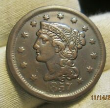 1857 Large Cent VF large date
