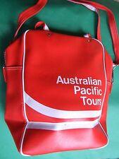 Retro Australian Pacific Tours Red Vinyl Shoulder Bag 70's