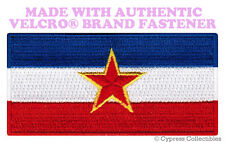 YUGOSLAVIA FLAG PATCH EMBROIDERED SOUVENIR EMBLEM new w/ VELCRO® Brand Fastener